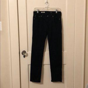 "AG navy blue sateen ""the stilt"" pants size 28r"
